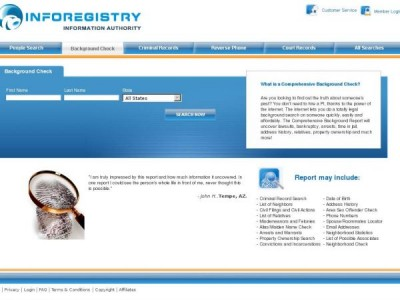 The inforegistry.com Homepage