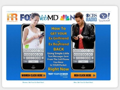 Text Your Ex Back Homepage