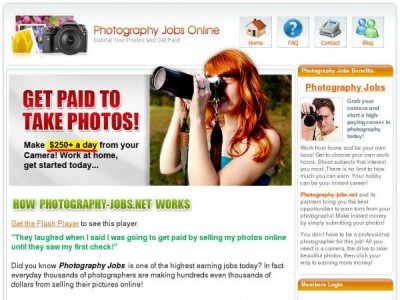 Photography Jobs.net Premium Membership Homepage